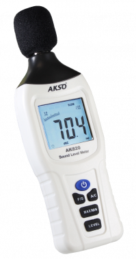 DECIBELÍMETRO (MEDIDOR DE DECIBÉIS) DIGITAL FAIXA DE MEDIÇÃO DE 30 A 130 dB - AK820