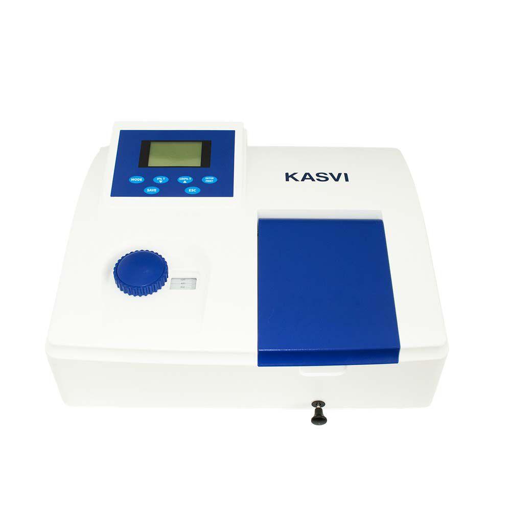ESPECTROFOTÔMETRO DIGITAL MONO FEIXE VISIVEL COMPRIMENTO DE ONDA 325-1020NM K37-VIS KASVI
