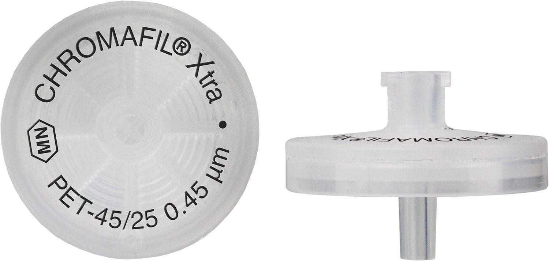 FILTRO PARA SERINGA CHROMAFIL XTRA PET 25MM 0,45UM C/100PC