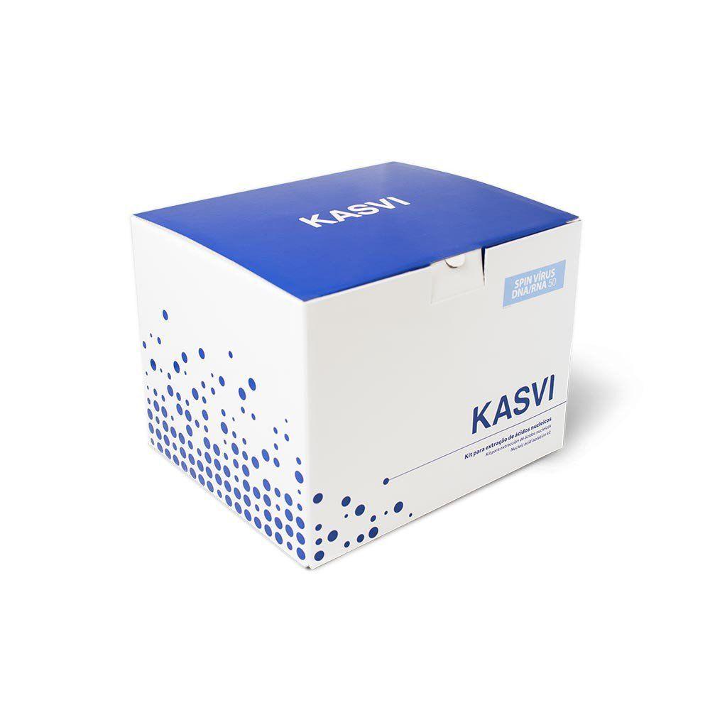 KIT DE EXTRAÇÃO VÍRUS DNA/RNA 50 EXTRAÇÕES MINI SPIN K9-1050 KASVI
