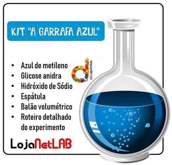 KIT EXPERIMENTO GARRAFA AZUL - DEUQUIMICA