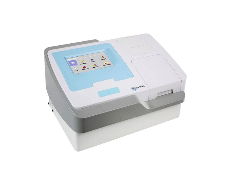 LEITORA DE MICROPLACAS ELISA COM TELA TOUCH SCREEN COLORIDA DR-200BS-NM-BI