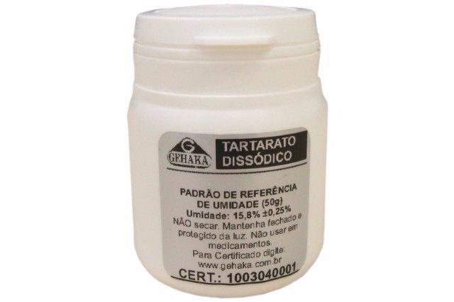 PADRÃO DE REFERÊNCIA DE UMIDADE - TARTARATO DISSÓDICO 50G GEHAKA