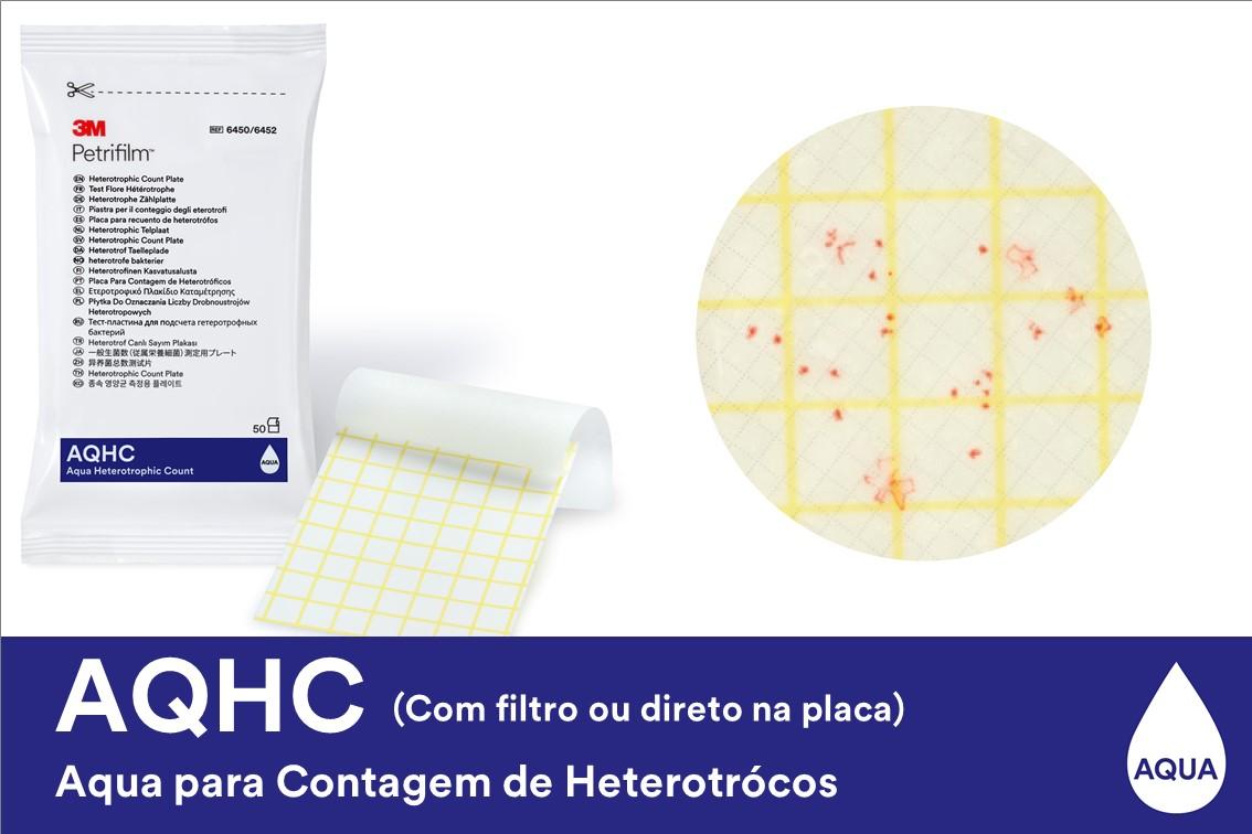 PETRIFILM ANÁLISE CONTAAGEM DE BACTÉRIAS HETEROTRÓFICA EM ÁGUA 100 UNIDADES 6450 3M