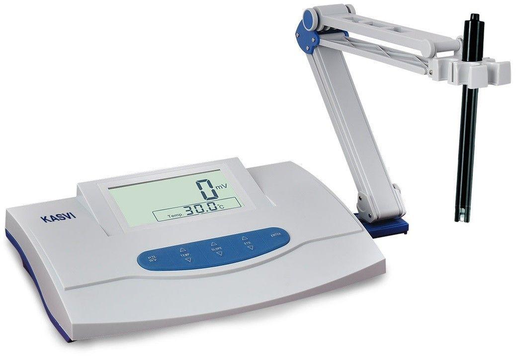 PHMETRO MEDIDOR DE PH DE BANCADA DIGITAL LCD PH 0-14 COMPLETO  K39-2014 KASVI
