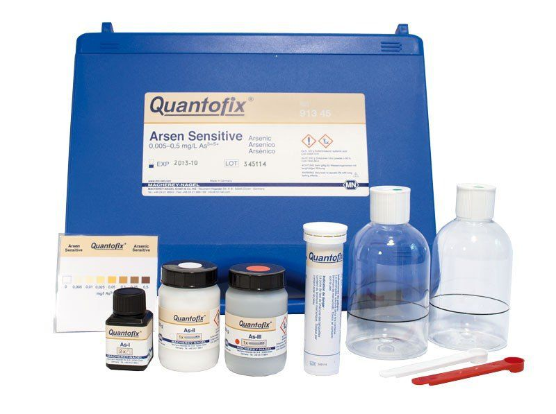 QUANTOFIX ARSENIO 0,005-5 -MG/L EM TIRAS + REAGENTE