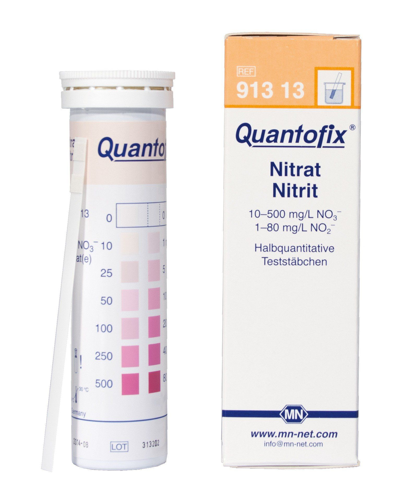 QUANTOFIX NITRATO/NITRITO 0-500MG/L NO3 0-80MG/L NO2 EM TIRAS