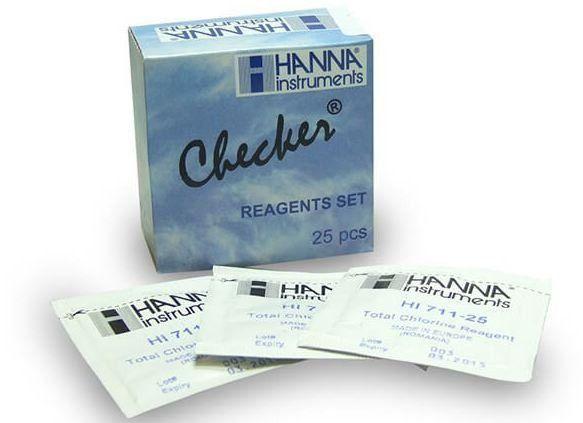 REAGENTE PARA CLORO TOTAL PARA CHECKER HI711 PACOTE COM 25 TESTES REF HI711-25 HANNA