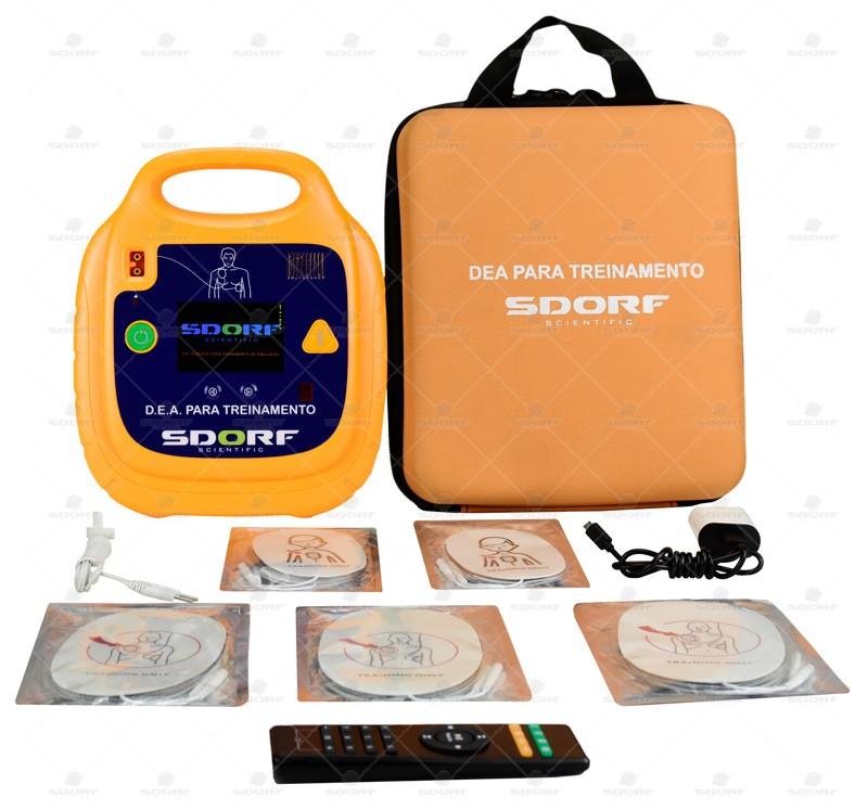 SIMULADOR DE DEA (DESFIBRILADOR EXTERNO AUTOMÁTICO) COM CONTROLE REMOTO REF SD-8000