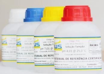 SOLUÇÃO TAMPÃO (BUFFER) PH 6,86 ISO 17034 MRC FRASCO DE 250 ML - ISO GUIDE 34