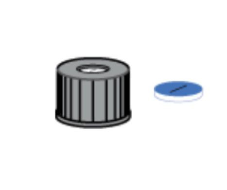 TAMPA ROSCA N8 PRETA AB.5,5 SEP.SIL/PTFE PRE-CORT C/100 195.007