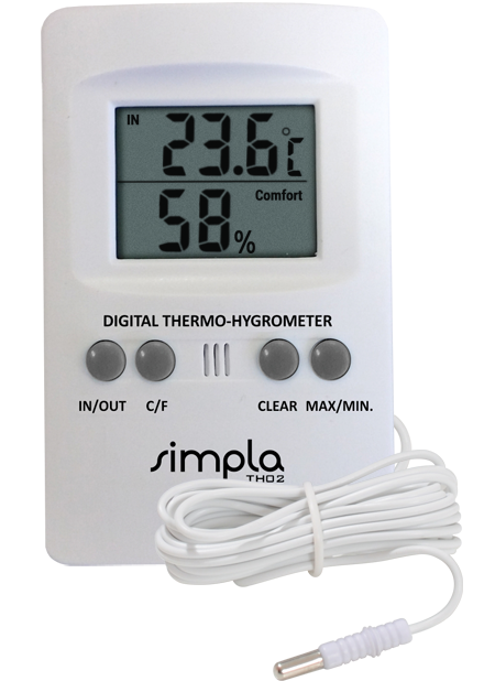 TERMO-HIGROMETRO DIGITAL COM TEMPERATURA INTERNA E EXTERNA REF TH02