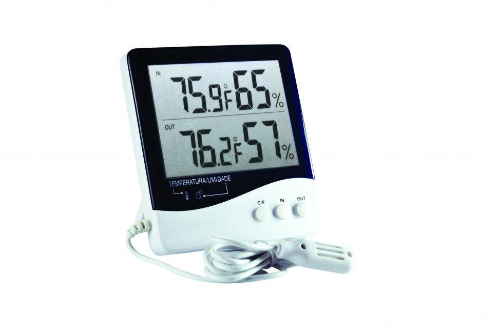 Termo-Higrômetro Digital Temperatura e Umidade Interna/Externa - Incoterm