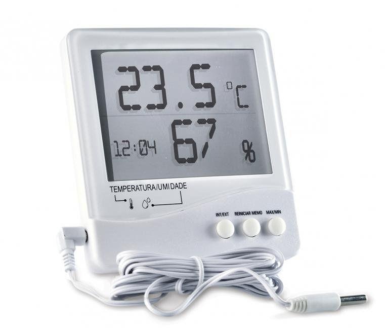 Termo-Higrômetro Digital Temperatura Interna e Externa e Umidade Interna - Incoterm
