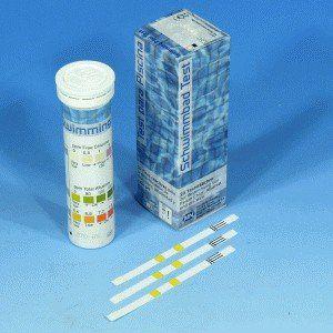 TESTE DE PISCINAS CL2 0-10MG/L ALC.0-240MG/L PH 6,4-8,4 EM TIRAS