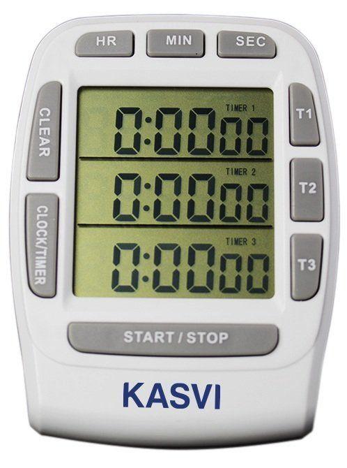TIMER DIGITAL COM 3 CANAIS INDEPENDENTES K30-004A KASVI