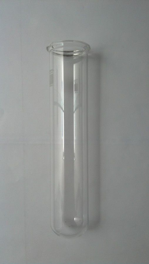 TUBO MACRO EM VIDRO BOROSILICATO COM ORLA 50X250MM (PARA BLOCO DIGESTOR)
