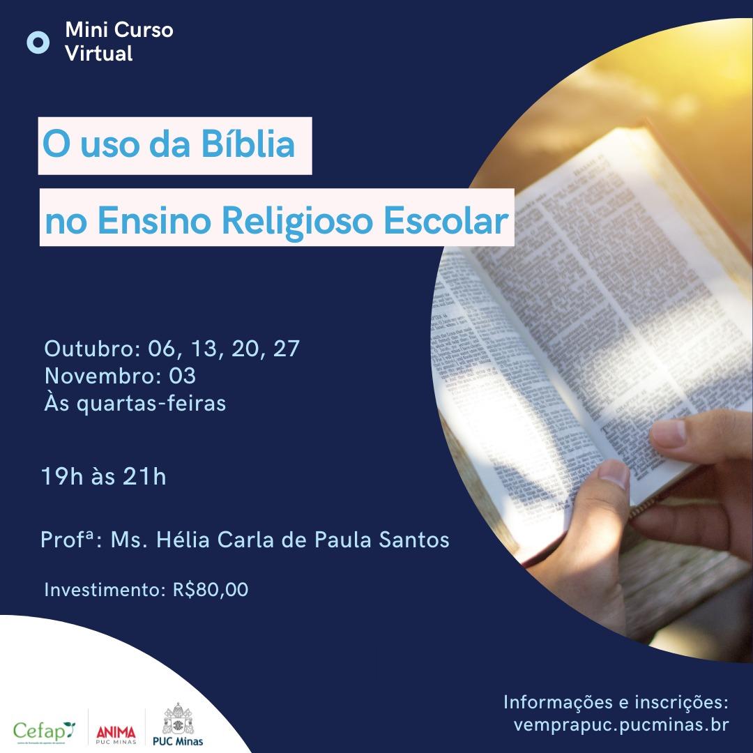 A Bíblia no Ensino Religioso  - PUC Minas
