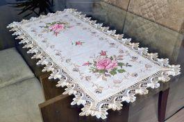 Caminho de Mesa com Flores Rosas - 0,90 m