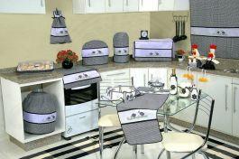 Itens para Cozinha Bordado Ponto Cruz - Galinha D'Angola
