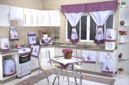 Itens para Cozinha em Patchwork - Corujinha