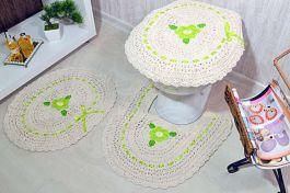 Jogo de Banheiro de Crochê Thaís