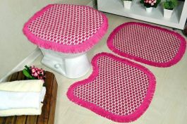 Jogo de Banheiro de Tear Zafira - Pink