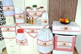 Itens para Cozinha em Ponto Cruz - Joaninha Feliz