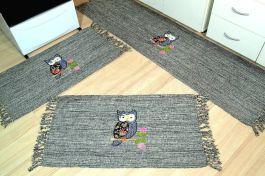 Jogo de Passadeira Patchwork - Coruja com Laço