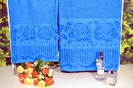 Jogo de Toalhas 2 Peças Jasmim - Azul Flores