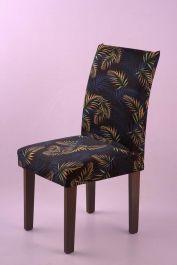 Kit Capa para Cadeira Estampada 4 Peças - Folhagem