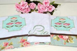 Kit de Cozinha Bordado Patchwork - Tiffany