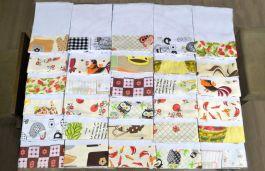Kit Pano de Pratos com 30 peças - Barrado Sortido