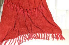 Manta de Sofá Chenille - Vermelho Rubi