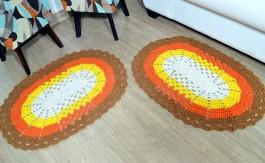 Par de Tapetes em Crochê Oval - Lavinia