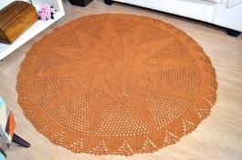 Tapetão de Sala Redondo em Crochê - Terra