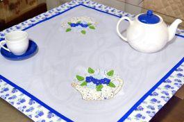 Toalha de Centro em Patchwork - Regador Azul