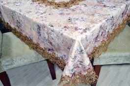 Toalha de Mesa Floral com Guipir 2,20m Camilly