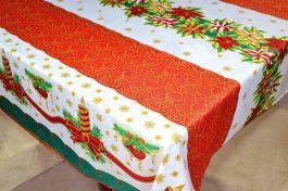 Toalha de Mesa Oxford Natal  - Velas de Natal