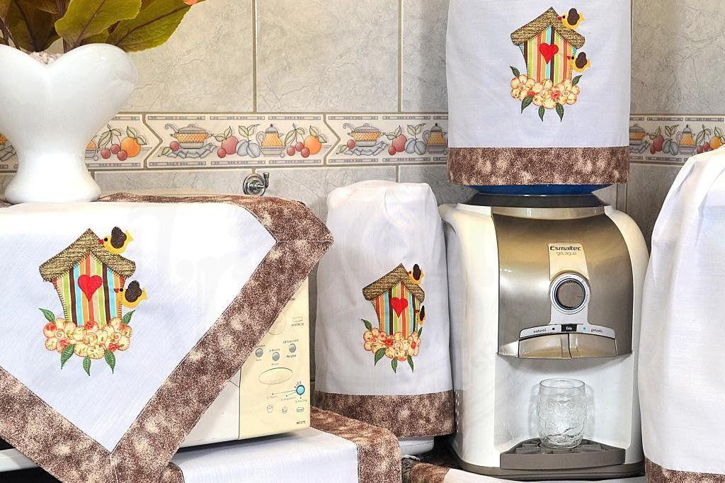 Jogo de Cozinha em Patchwork - Casinha