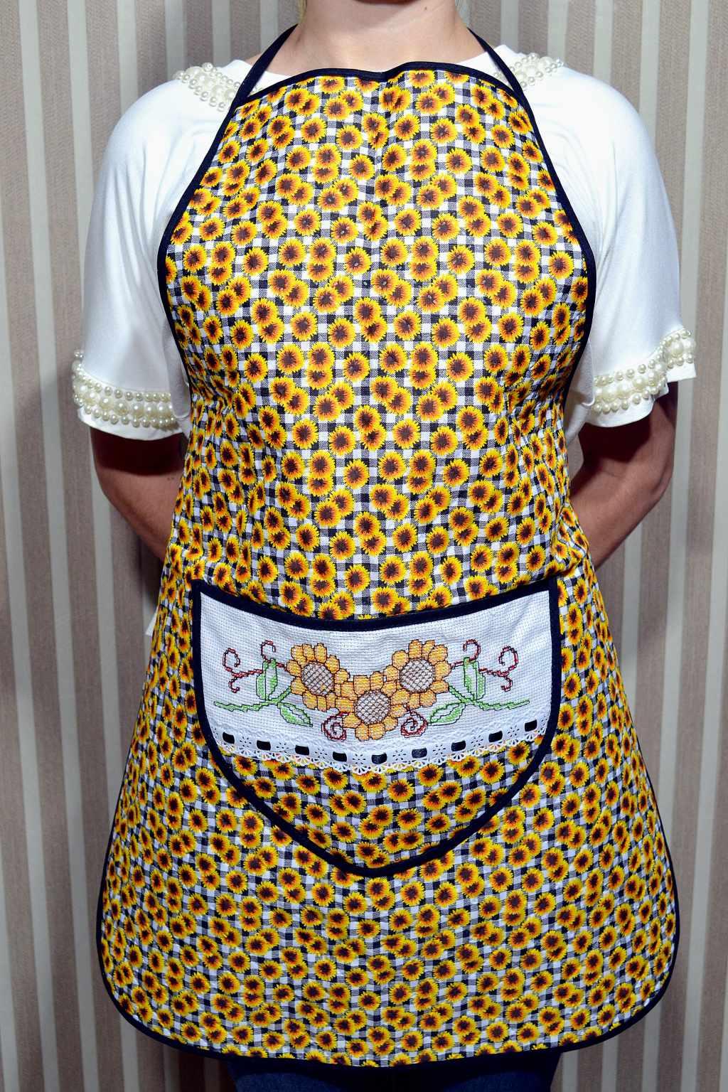 Avental de Cozinha Estampado - Girassol