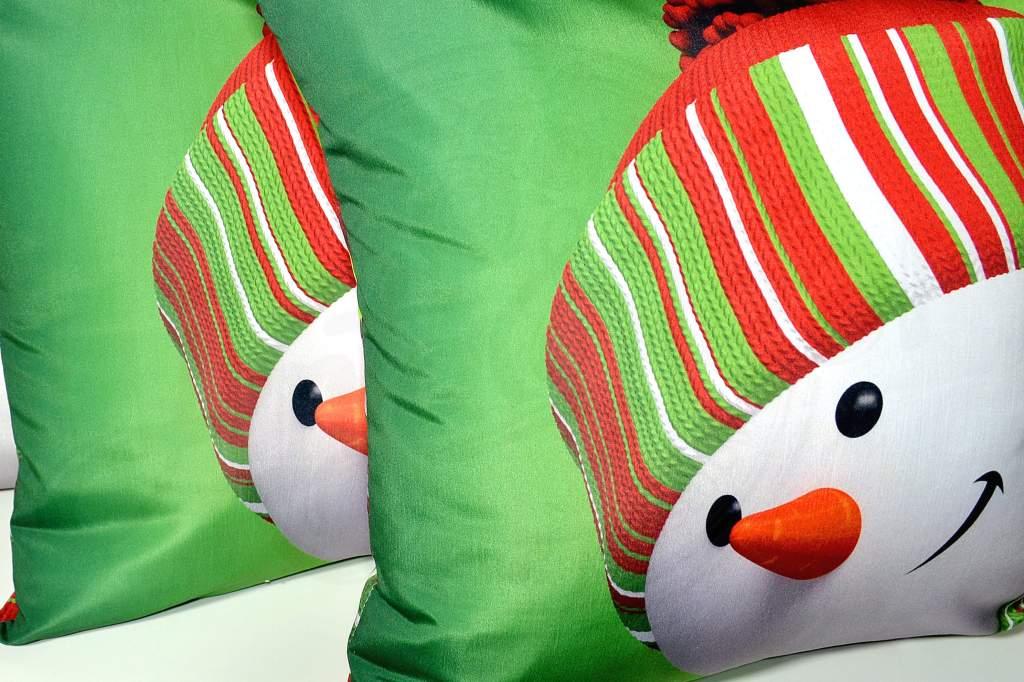 Capa de Almofada Boneco de Neve