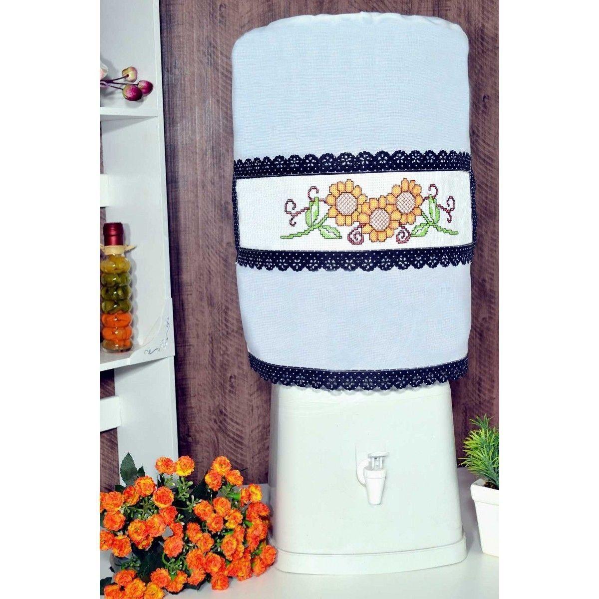 Capa Galão de Água 20 L Branco - Girassol