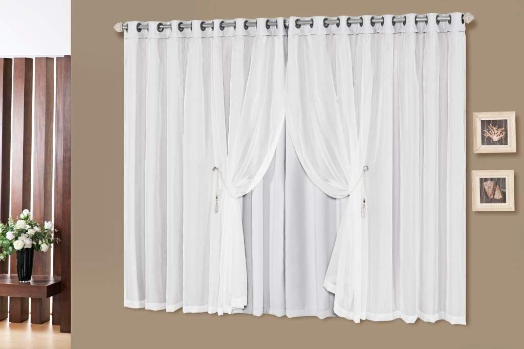 Cortina Idealle Tecido Blackout Branco