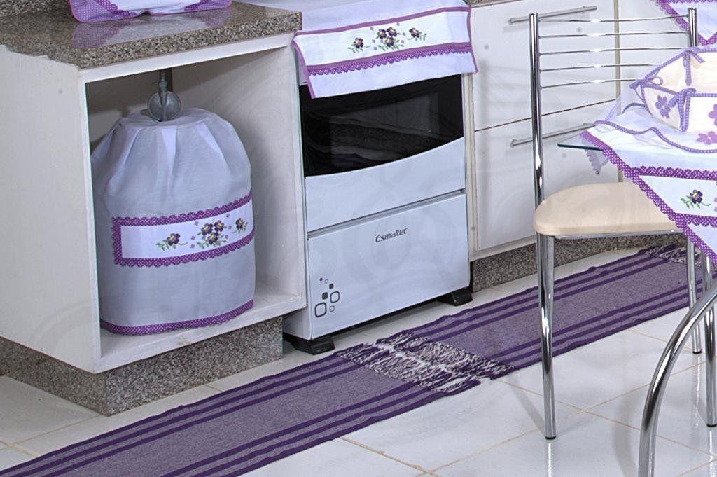 Itens para Cozinha Bordado - Ametista