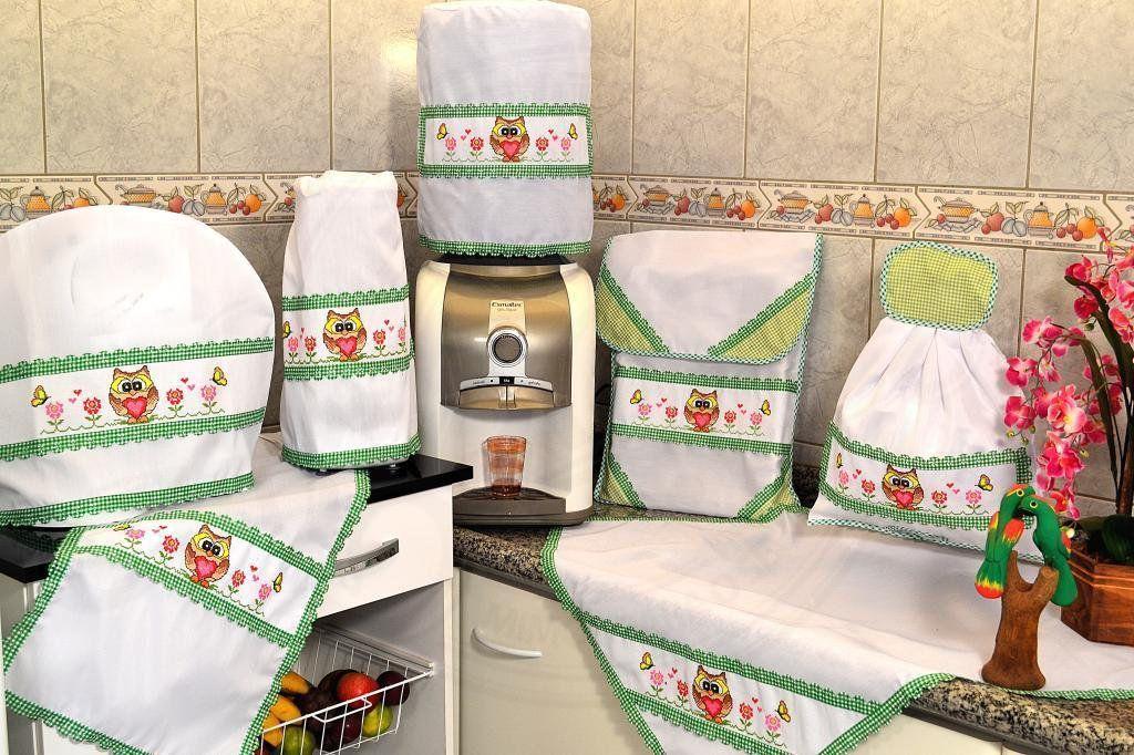 Itens para Cozinha Bordado - Corujinha