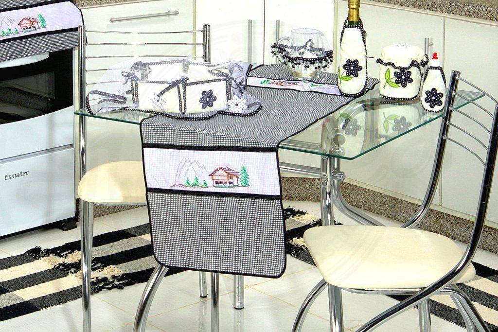 Itens para Cozinha Bordado Ponto Cruz - Casinha