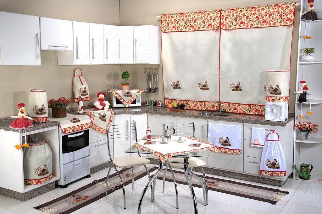 Itens para Cozinha em Patchwork  - Galinha Florida
