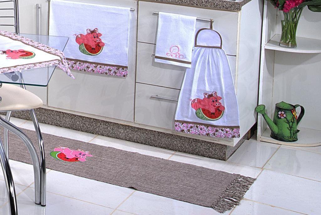 Itens para Cozinha em Patchwork - Porquinha