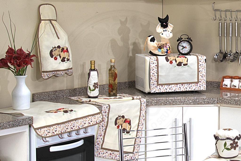 Itens para Cozinha em Patchwork - Vaquinha com Laço
